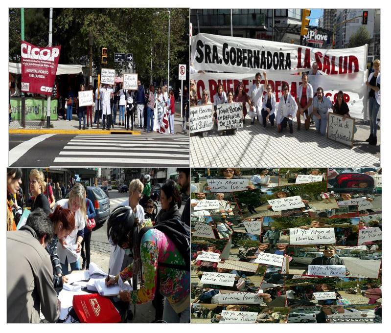 HOSPITALES FIORITO Y PTE. PERÓN DE AVELLANEDA: Bocinazo por la Salud Pública, firma de petitorio y defensa del hospital público